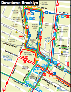 Downtown Brooklyn bus map inset